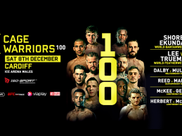 Uitslagen : Cage Warriors 100 : Shore vs. Ekundayo