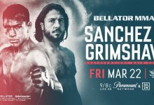 Emmanuel Sanchez vs Ashleigh Grimshaw main event voor Bellator  in Thackerville