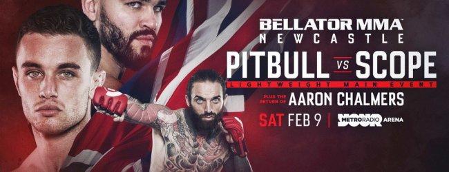 "Patricky ""Pitbull"" vs. Ryan Scope is het Main Event voor Bellator Newcastle"