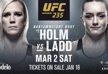 Holly Holm vs. Aspen Ladd toegevoegd aan UFC 235 in Las Vegas