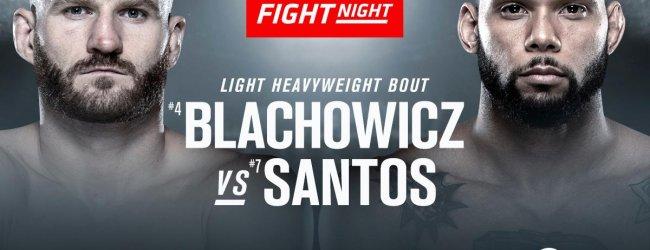 Jan Blachowicz vs. Thiago Santos is het Main Event voor UFC Praag + Stefan Struve op de card