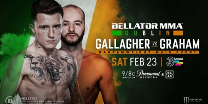 James Gallagher vs. Steven Graham is het Main Event voor Bellator 218 in Dublin