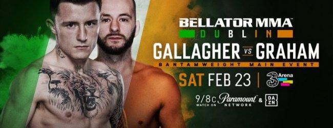 James Gallagher vs. Steven Graham is het Main Event voor Bellator 218 in Dublin