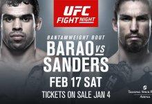 Voormalig Bantamweight Kampioen Renan Barão treft Luke Sanders tijdens UFC Phoenix
