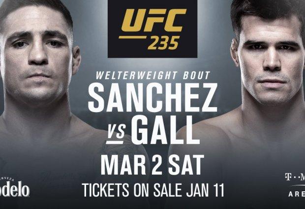 Diego Sanchez treft Mickey Gall tijdens UFC 235 in Las Vegas