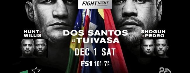 Uitslagen : UFN 142 Adelaide : Dos Santos vs. Tuivasa