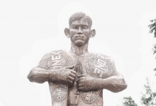 "ONE Championship ""Champ-Champ"" Aung La N Sang geëerd met standbeeld in Myanmar"