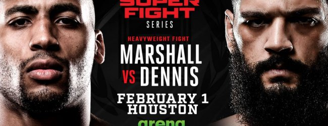 D'Angelo Marshall tegen Demoreo Dennis tijdens GLORY in Houston