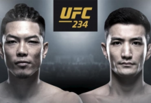 Aziatisch onderonsje tussen Teruto Ishihara en Kyung Ho Kang tijdens UFC 234 in Melbourne
