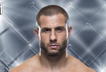 Gökhan Saki in actie tijdens UFC Londen tegen Saparbeg Safarov