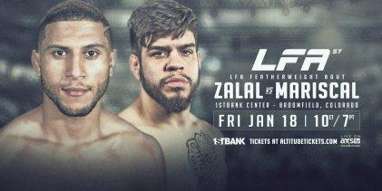 Uitslagen : LFA 57 : Zalal vs. Mariscal