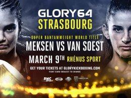 Anissa Meksen verdedigt titel tegen van Soest tijdens GLORY 64
