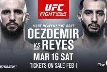 Volkan Oezdemir treft ongeslagen Dominick Reyes tijdens UFC Londen