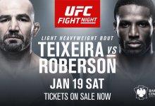 "Karl Roberson pakt gevecht op ""8 days notice"" tegen Glover Teixeira in Brooklyn"