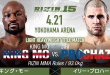 RIZIN FF 15 komt met Light-Heavyweight titel gevecht tussen King Mo en Jiri Prochazka + meer