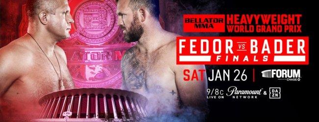Uitslagen : Bellator 214 : Fedor vs. Bader
