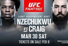 UFC debutant Kennedy Nzechukwu treft Paul Craig tijdens UFC Philadelphia
