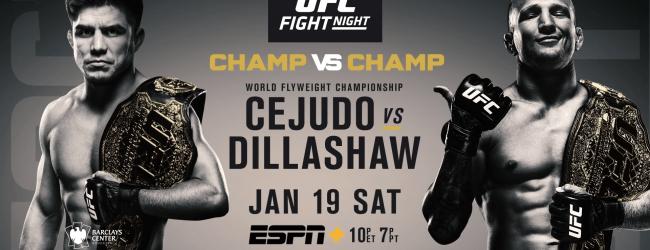 Uitslagen : UFC on ESPN+ 1 : Cejudo vs. Dillashaw