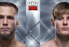 Bobby Moffett treft ongeslagen Bryce Mitchell tijdens UFC Nashville