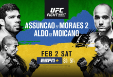 Uitslagen : UFC on ESPN+ 2 : Assuncao vs. Moraes 2