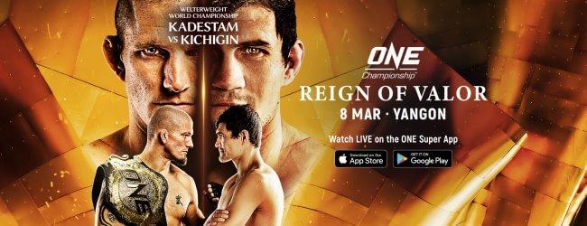 Uitslagen : ONE Championship 90 : Reign of Valor