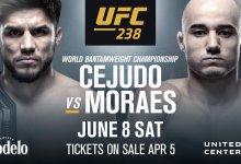 Henry Cejudo vs. Marlon Moraes vechten voor vacante Bantamweight titel tijdens UFC 238