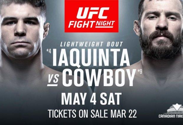 Main Event tussen Al Iaquinta en Donald Cerrone tijdens UFC Ottawa