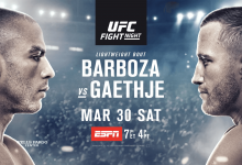 Uitslagen : UFC on ESPN 2 : Barboza vs. Gaethje