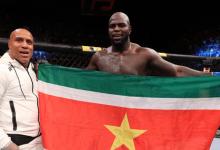 Jairzinho Rozenstruik treft Allen Crowder tijdens UFC Greenville in Juni
