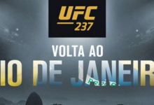 Francisco Trinaldo treft Carlos Diego Ferreira tijdens UFC 237 in Rio de Janeiro