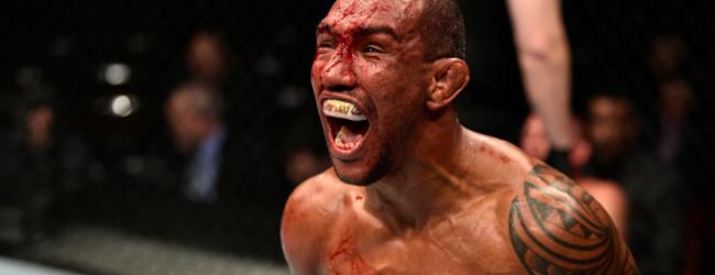 Bantamweight vuurwerk tussen Raoni Barcelos en Said Nurmagomedov tijdens UFC 237 in Rio