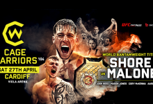 Uitslagen : Cage Warriors 104 : Shore vs. Malone