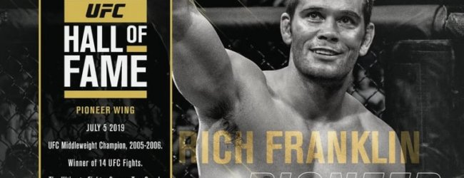 Rich Franklin komt in de UFC Hall of Fame