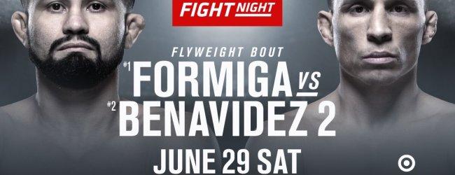 Vier gevechten bekend gemaakt voor UFC Minneapolis inclusief Formiga vs. Benavidez 2