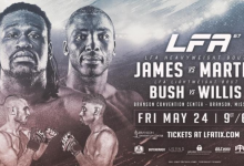 Daniel James vs. Patrick Martin is het Main Event van LFA 67 in Branson