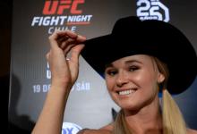 Flyweights Andrea Lee & Montana De La Rosa vechten tijdens UFC Greenville