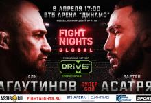 Uitslagen : Fight Nights Global 92 : Bagautinov vs. Asatryan