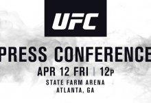 UFC Seasonal Press Conference aankomende vrijdag vanaf 18.00u