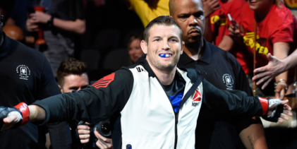 Chas Skelly treft Jordan Griffin tijdens UFC on ESPN 4 in Minneapolis