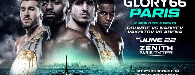 Drie wereldtitels op het spel tijdens GLORY 66 in Parijs