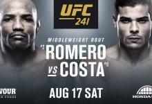 Poging 4: Yoel Romero vs. Paulo Costa officieel voor UFC 241 in Anaheim
