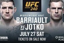 Marc-André Barriault treft Krzysztof Jotko tijdens UFC 240 in Edmonton