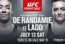 Germaine de Randamie vs. Aspen Ladd officieel bevestigd als Main Event voor UFC Sacramento