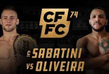 Uitslagen : CFFC 74 : Sabatini vs. Oliveira