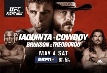 Uitslagen : UFC on ESPN+ 9 Ottawa : Iaquinta vs. Cowboy
