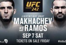 Islam Makhachev treft Davi Ramos tijdens UFC 242 in Abu Dhabi
