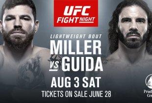 Jim Miller vecht voor eigen publiek tegen Clay Guida tijdens UFC Newark