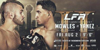 Rematch tussen Mowles en Yanez is het Main Event van LFA 73 in Dallas