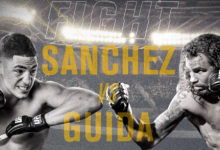 Gevecht Diego Sanchez vs. Clay Guida in de UFC Hall of Fame