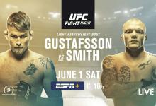 Uitslagen : UFC on ESPN+ 11 Stockholm : Gustafsson vs. Smith